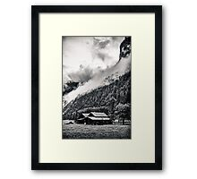 A Layer of Morning Fog- Gimmelwald, Switzerland Framed Print