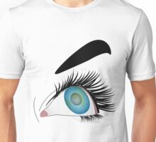 Blue eyes makeup of a woman  Unisex T-Shirt