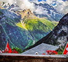 Alpen View- Gimmelwald, Switzerland by C. R.  Gette