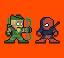 8-bit Green Arrow & Deathstroke Kids Clothes