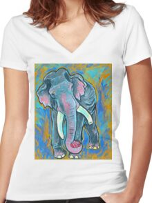 Buddha predictions  Women's Fitted V-Neck T-Shirt