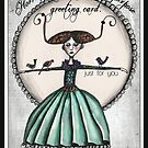 A horrendously uninspired blank greeting card by Jenny Wood