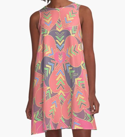 Concentric hearts A-Line Dress