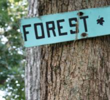 Forest Circle. Sticker