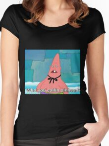 Who you callin Pinhead Women's Fitted Scoop T-Shirt