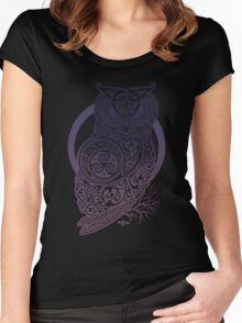 Celtic Owl Women's Fitted Scoop T-Shirt