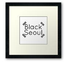 Black Seoul 2 Framed Print