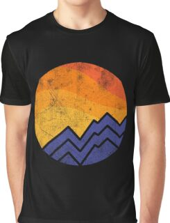 Vintage Sunset In The Mountain Graphic T-Shirt