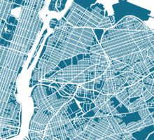 New York City Map Sticker
