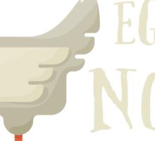 Make Eggs Not War Sticker