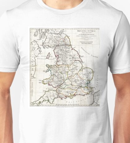 Map of England in Ancient Roman times - Horsley - 1794 Unisex T-Shirt