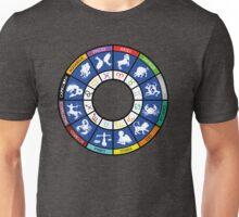 Grafico de los doce signos del zodiaco Unisex T-Shirt