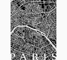 Paris Map (Black) Unisex T-Shirt