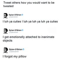 Best of: Dylan O'briens tweets by acree10
