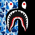 bape blue black shark by havierdebro