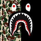 bape army black shark by havierdebro