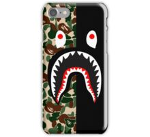 bape army black shark iPhone Case/Skin