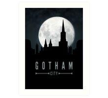 Gotham Moon Art Print