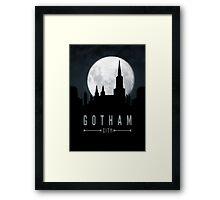 Gotham Moon Framed Print