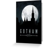 Gotham Moon Greeting Card