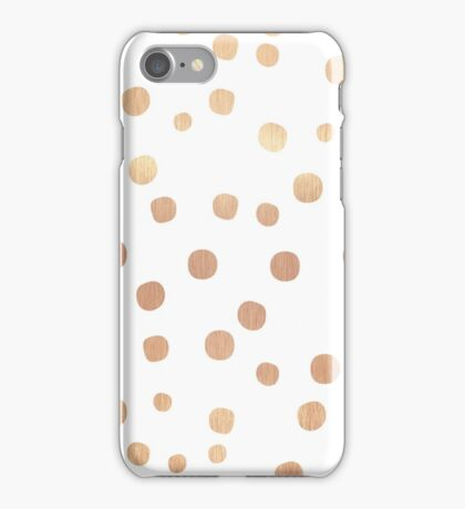 ROSE GOLD CONFETTI iPhone Case/Skin
