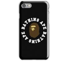 bathing ape oval text iPhone Case/Skin
