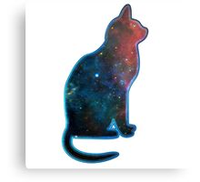 Space cat, Universe, Kosmos, Galaxy, Star Metal Print
