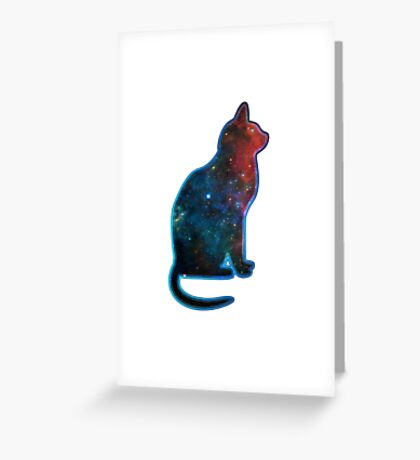 Space cat, Universe, Kosmos, Galaxy, Star Greeting Card