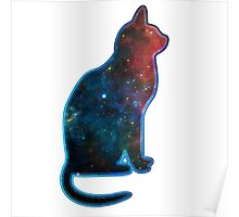 Space cat, Universe, Kosmos, Galaxy, Star Poster