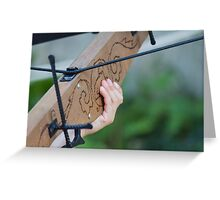 old crossbow Greeting Card