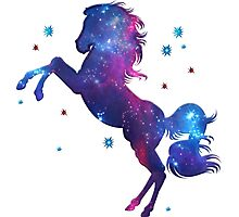 Space Horse, Universe, Kosmos, Galaxy, Star Photographic Print