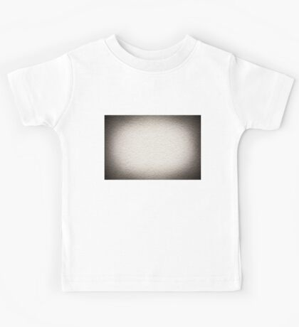 Grained paint white wall texture Kids Tee