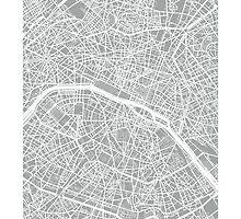 Paris Map (Light Grey) by CartoCreative