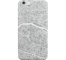 Paris Map (Light Grey) iPhone Case/Skin