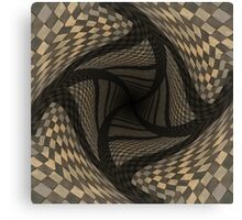 Distorted brown checkered background Canvas Print
