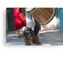 dances and dances with drum and bagpipe Metal Print