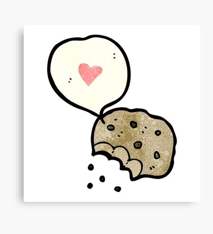 i love cookies cartoon Canvas Print