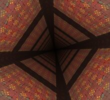 Distorted colorful checkered background by AnnArtshock
