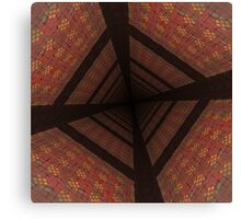 Distorted colorful checkered background Canvas Print