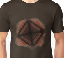 Distorted colorful checkered background Unisex T-Shirt