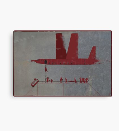 red wings. boarding Canvas Print