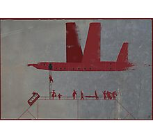 red wings. boarding Photographic Print