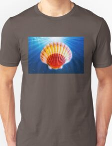 Shell in water back ground Unisex T-Shirt