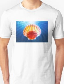 Shell in water back ground T-Shirt