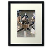 oil lamp Framed Print