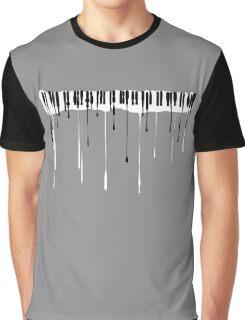 Splatter Piano v2 (black and white) Graphic T-Shirt