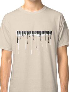 Splatter Piano v2 (black and white) Classic T-Shirt