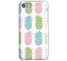 Greenery Pineapples pink and blue iPhone Case/Skin