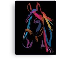 Horse - Colour me beautiful Canvas Print