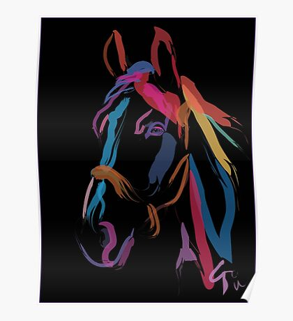 Horse - Colour me beautiful Poster